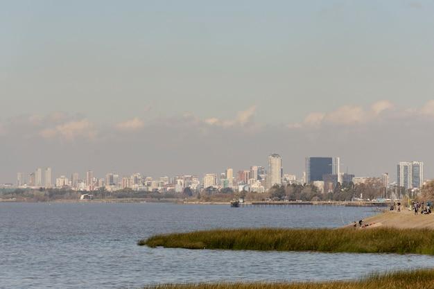 Conceito de poluição com efeito estufa da cidade