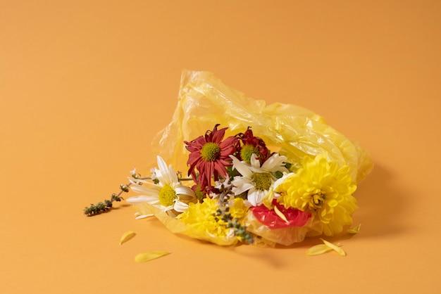 Conceito de poluição de resíduos plásticos