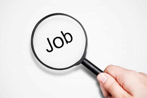 Conceito de procura de emprego