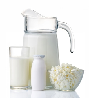 Conceito de produtos lácteos e proteínas
