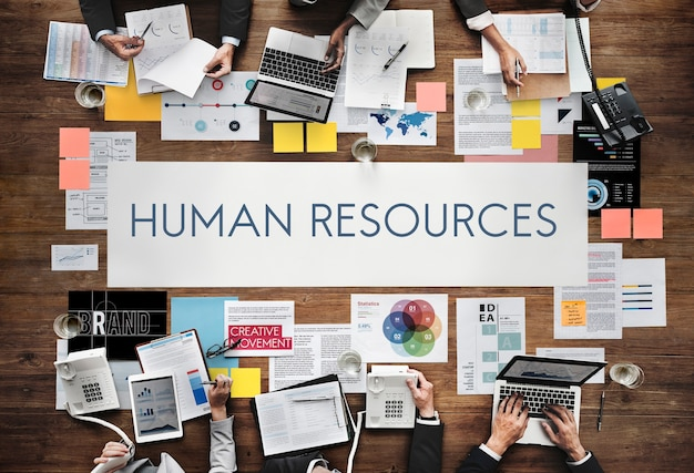 Conceito de profissão de recrutamento de empregos de recursos humanos