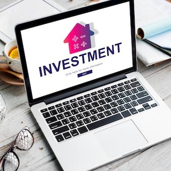 Conceito de propriedade de pagamento de hipoteca de empréstimo