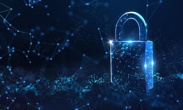Conceito de proteção de dados de segurança cibernética.