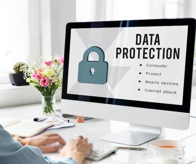 Conceito de proteção de privacidade de segurança de dados