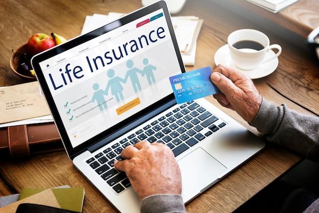 Conceito de proteção de saúde de seguro de vida