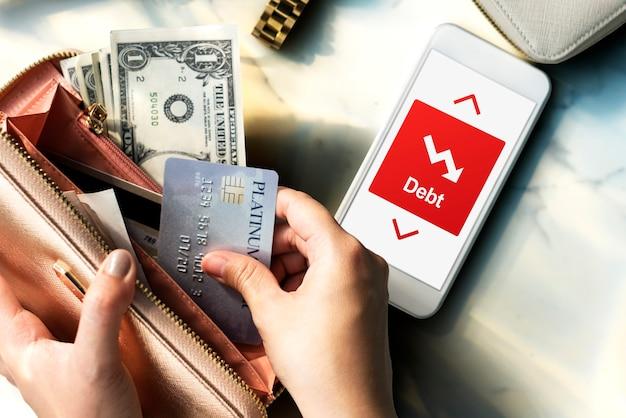 Conceito de queda de dificuldade de redução da dívida