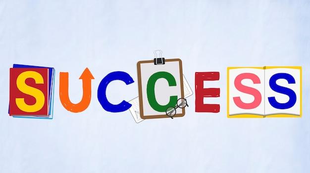 Conceito de realização de realização de progresso de sucesso