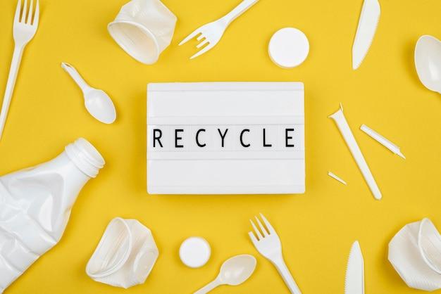 Conceito de reciclagem plana lay