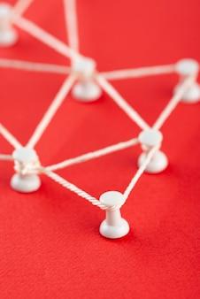 Conceito de rede com fio