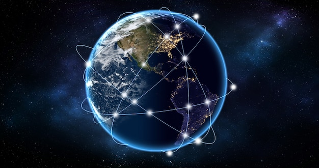 Conceito de rede global.