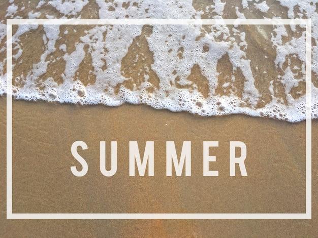Conceito de relaxamento relaxante para o horário de verão