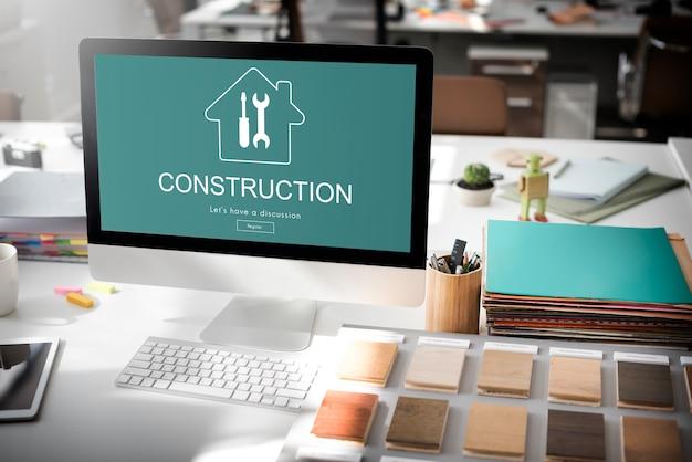 Conceito de renovação de projeto de design de construção