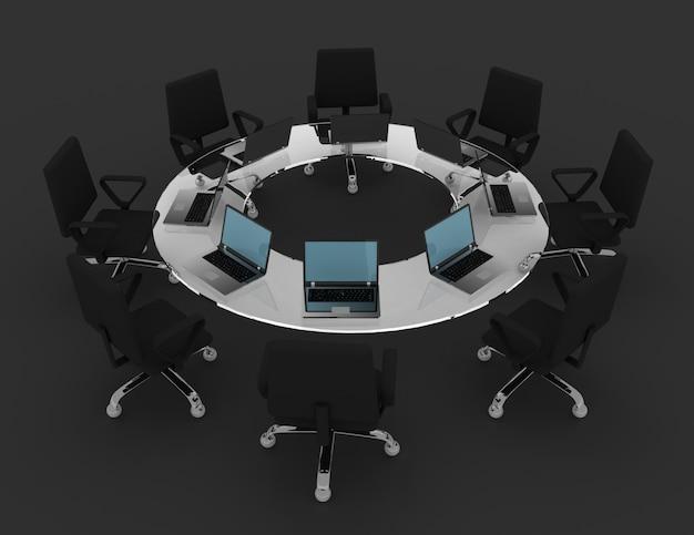 Conceito de reunião de negócios. ilustração renderizada 3d