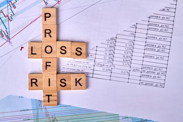 Conceito de risco financeiro em negócios e investimentos