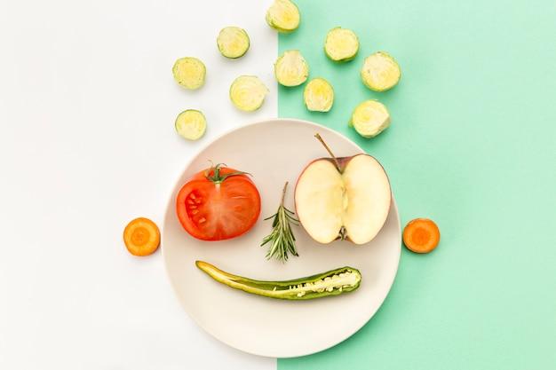 Conceito de saudável comer carinha
