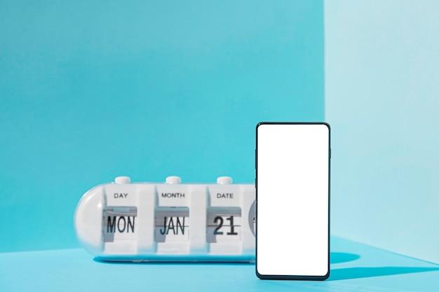 Conceito de segunda-feira azul com espaço de cópia