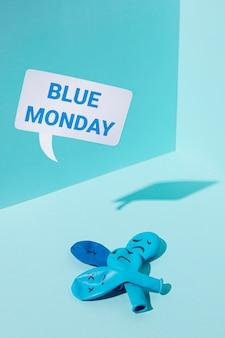 Conceito de segunda feira azul triste