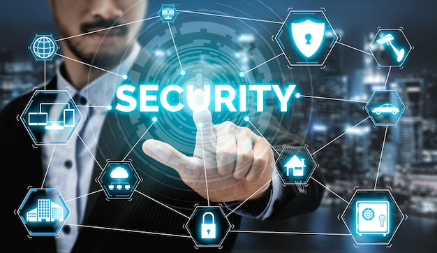 Conceito de segurança cibernética e proteção de dados digitais