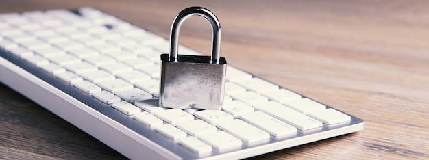 Conceito de segurança da internet e do computador.