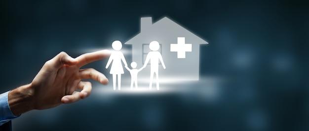 Conceito de seguro de proteção e cuidado familiar