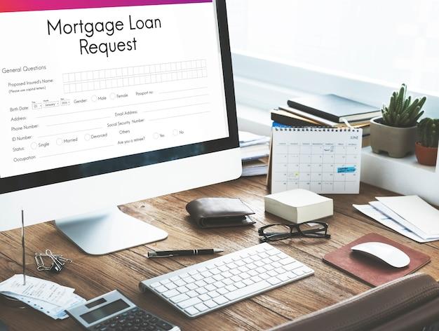 Conceito de seguro de refinanciamento de penhor de empréstimo hipotecário