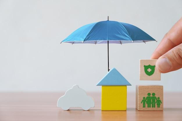 Conceito de seguros e investimentos