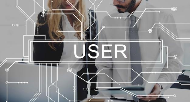 Conceito de senha de identidade de usabilidade do sistema membro do usuário