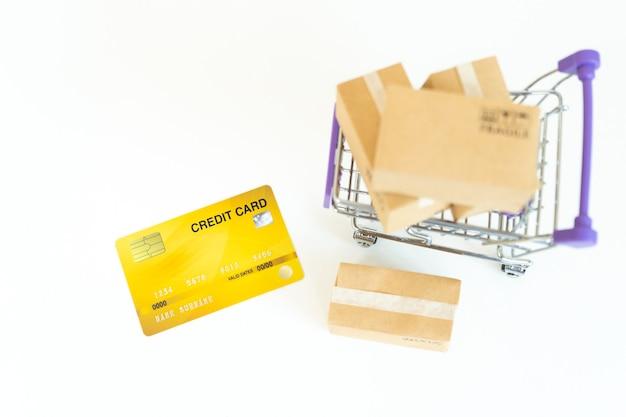 Conceito de serviço de entrega de compras online ou comércio eletrônico
