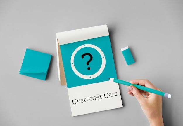 Conceito de serviço de suporte ao cliente de ajuda