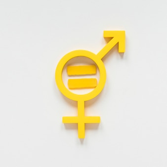 Conceito de símbolo colorido de direitos iguais