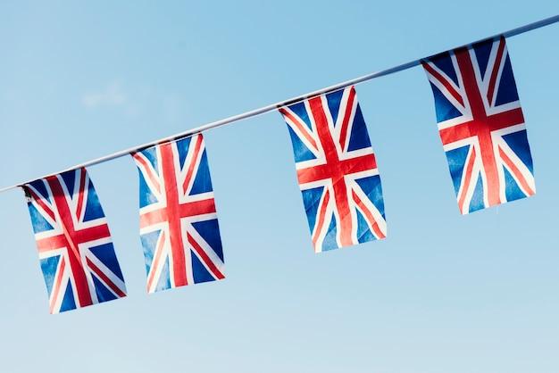 Conceito de sinal nacional de bandeira britânica