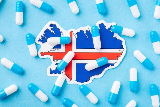 Conceito de situação médica na islândia
