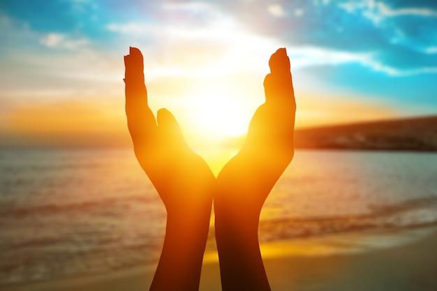 Conceito de solstício de sol de verão