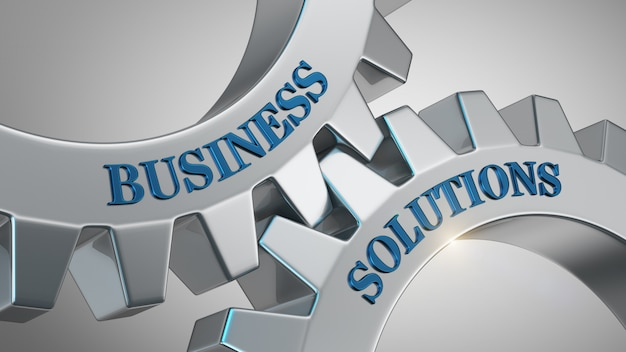 Conceito de soluções de negócios