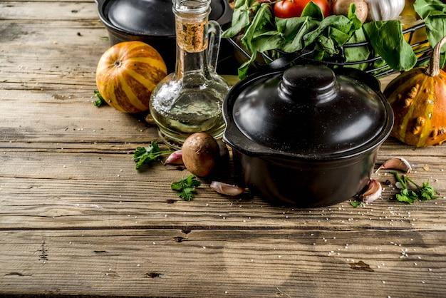 Conceito de sopa sazonal de outono