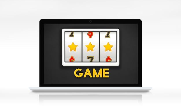 Conceito de sorte de cassino online