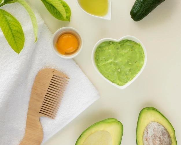 Conceito de spa de beleza e saúde de abacate