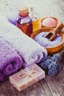 Conceito de spa lavanda
