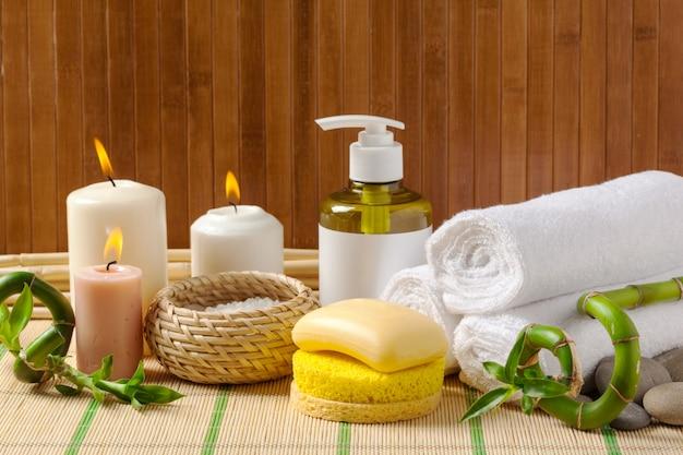 Conceito de spa. produtos de spa