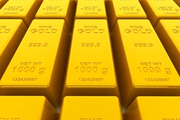 Conceito de sucesso. closeup extremo de barras douradas empilhadas