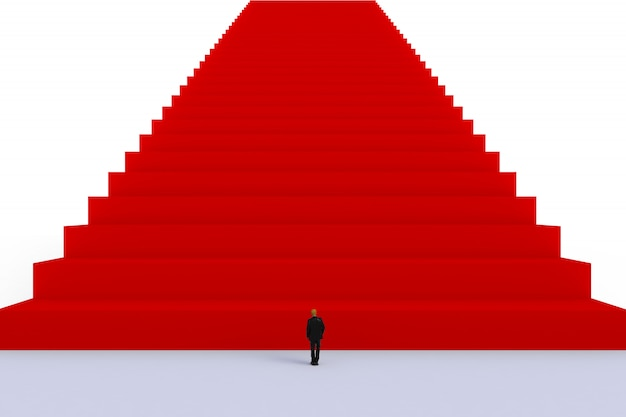 Conceito de sucesso com o empresário