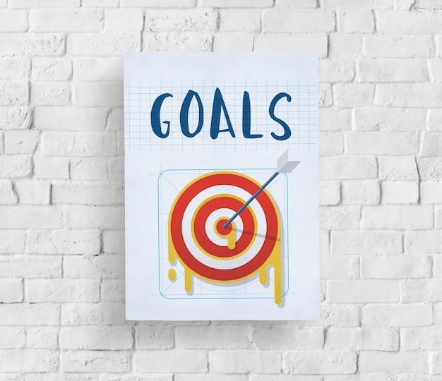 Conceito de sucesso do objetivo da estratégia do plano
