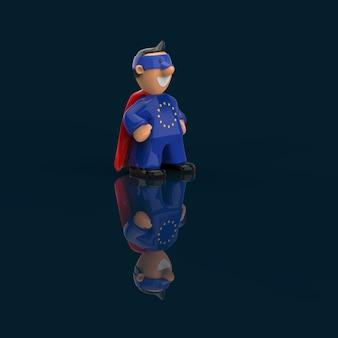 Conceito de super-herói - ilustração 3d