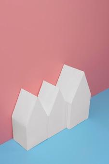 Conceito de sustentabilidade com formas geométricas em branco