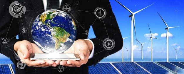 Conceito de sustentabilidade por energia alternativa