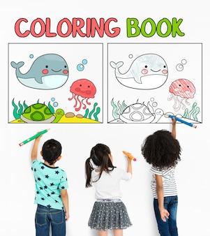 Conceito de talento educacional de livro para colorir