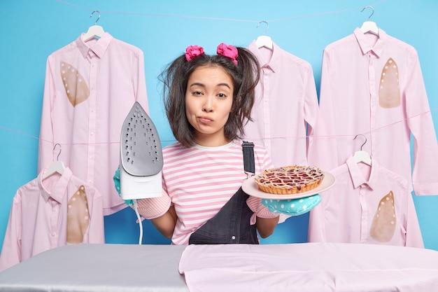 Conceito de tarefas domésticas diárias Foto Premium