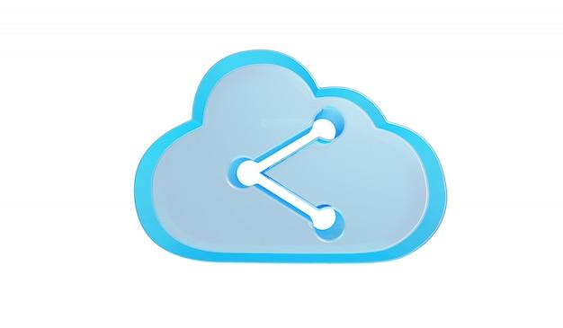 Conceito de tecnologia de armazenamento em nuvem