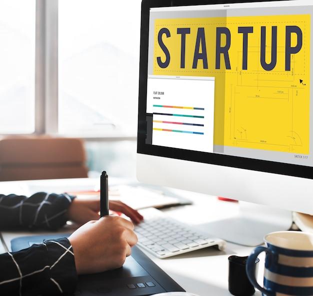 Conceito de tecnologia de arquitetura de design criativo startup