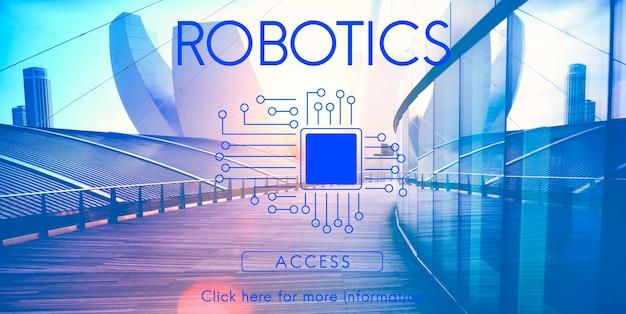 Conceito de tecnologia de chip de placa de circuito